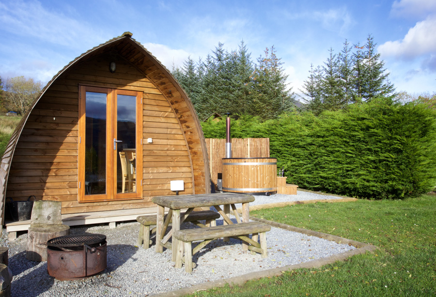 Glamping With Hot Tub Scotland Premium Wigwamswith Eco Hot Tub